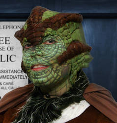 Silurian Face (one of my darker sides) by withclawsandfangs