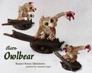 Owlbear Miniature (Reaper Bones) by withclawsandfangs