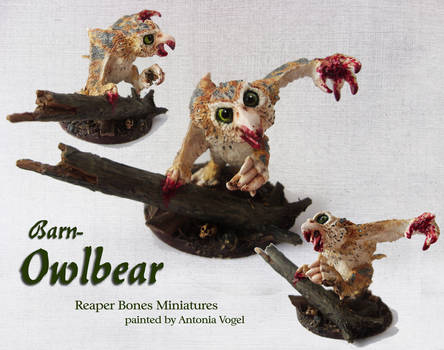 Owlbear Miniature (Reaper Bones)