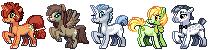 OC pony batch 1 by bananamantis