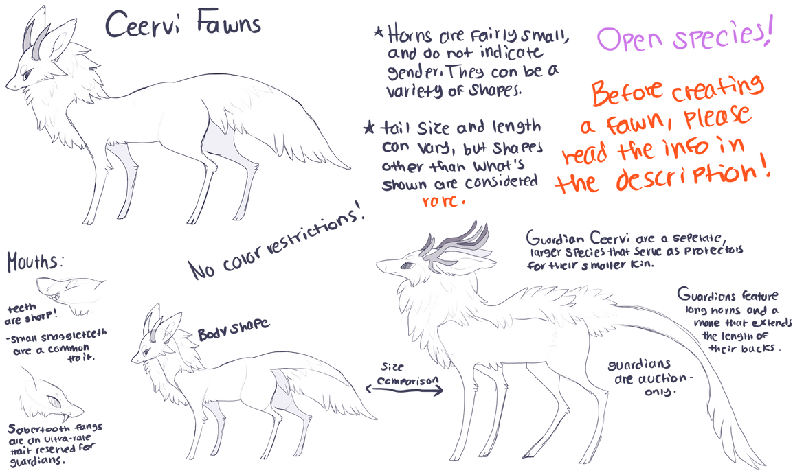 Ceervi Fawn Species Reference (Open species!) by bananamantis