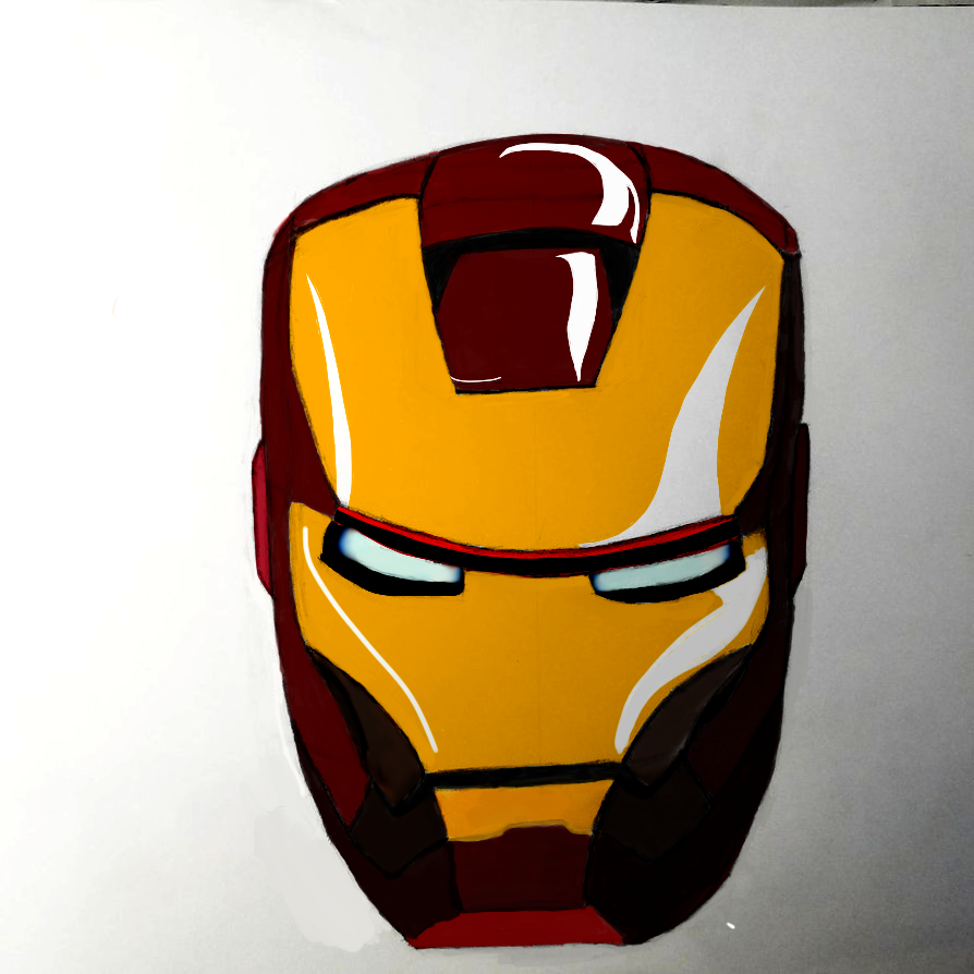 Iron man Mask by nitinrajput90