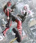 Lady Deadpool VS Spider Gwen