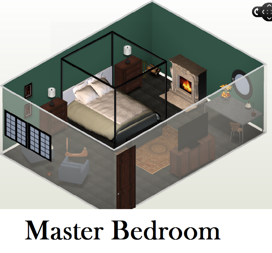 Future House: Master Bedroom by EnderTrouble