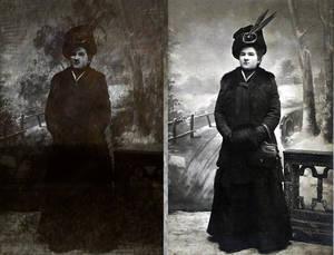 Photo restoration - Alice