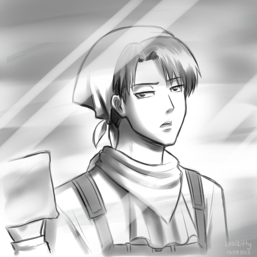 Snk Aot Cleaning Lance Corporal Levi By Sealkittyy On Deviantart