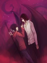 [C] Zaida and Ash by Sealkittyy