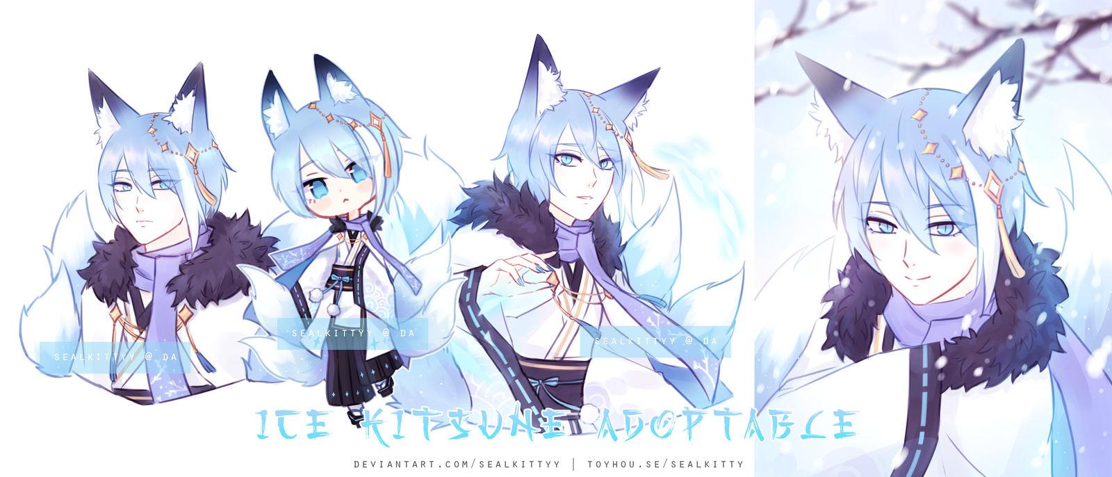 _closed__ice_kitsune_by_sealkittyy_de582