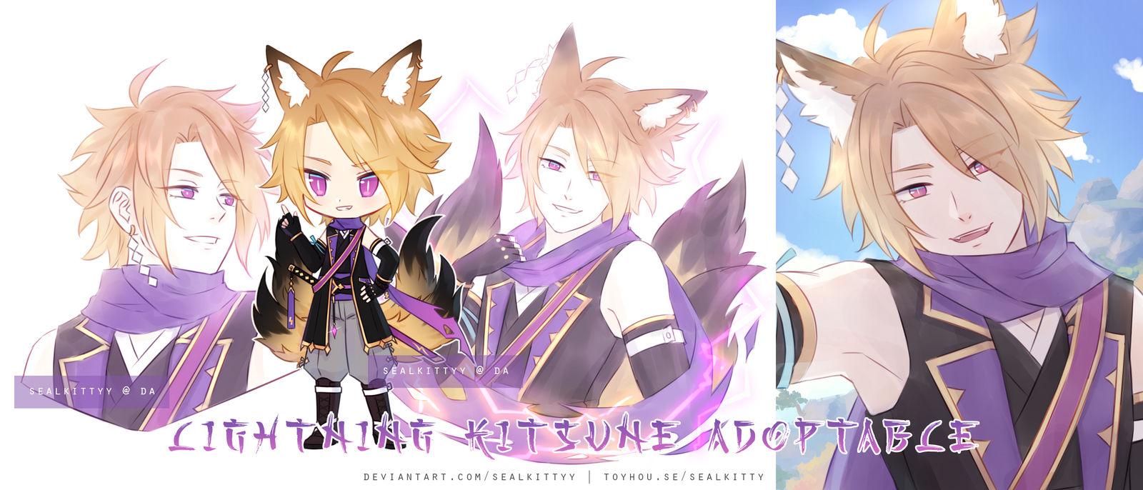 _preclaimed__lightning_kitsune_by_sealki