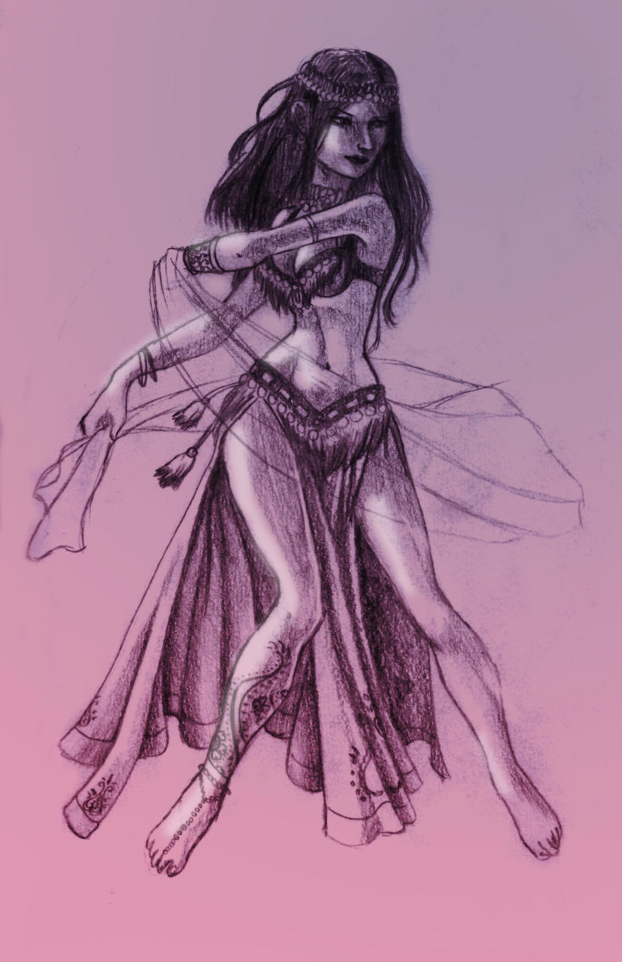 Belly Dancer Sketch by...
