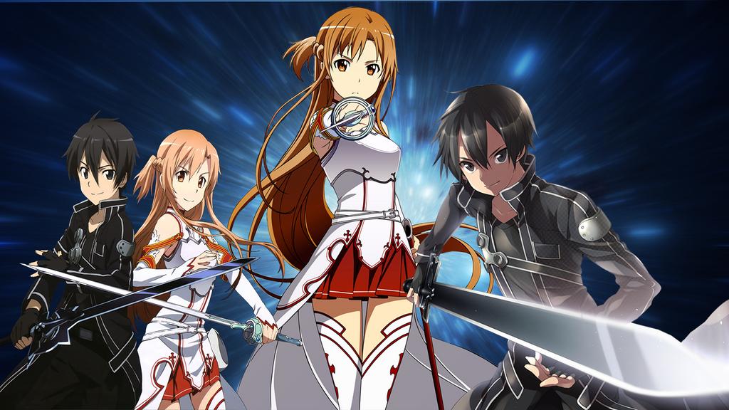 Sword Art Online Kirito And Asuna Wallpaper 2 By RoseDragonGuardian92