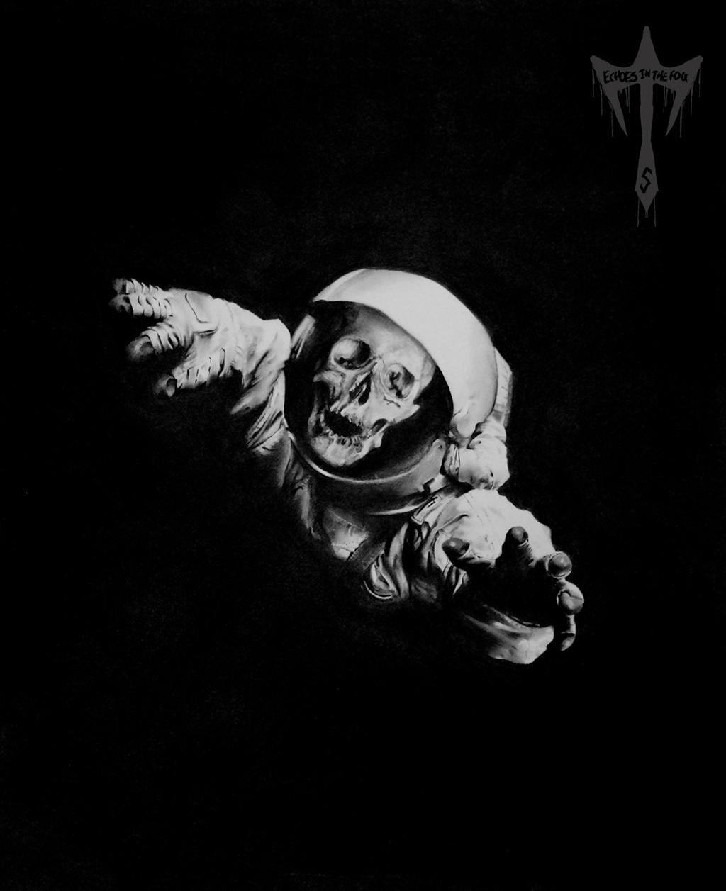 Dead Astronaut Charcoal Drawing By Echoesinthefog On