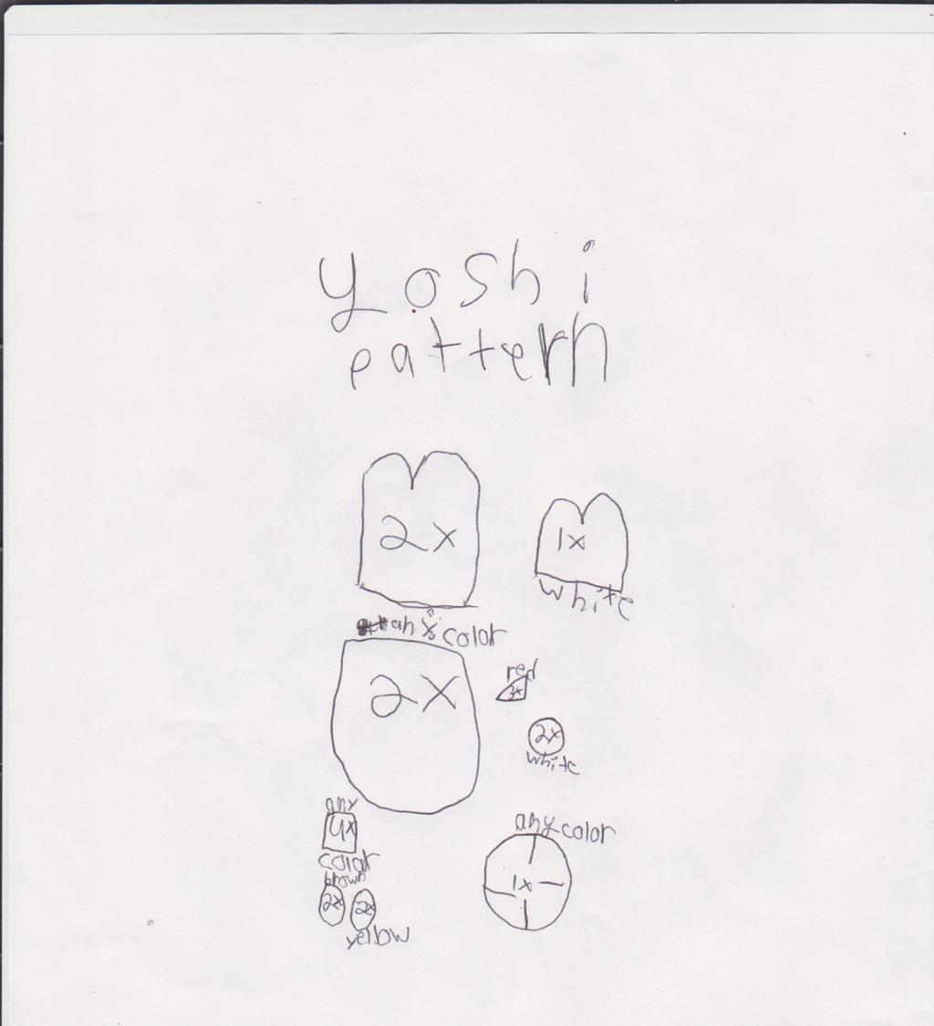 yoshi plush pattern by yoshifan12