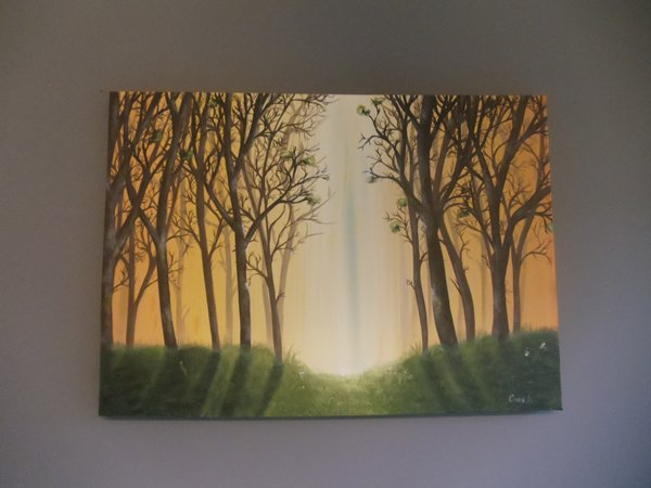 Acrylic painting forest by crinaapetrei on deviantart for Painting a forest in acrylics