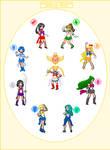 Super Sailor Senshi sprites
