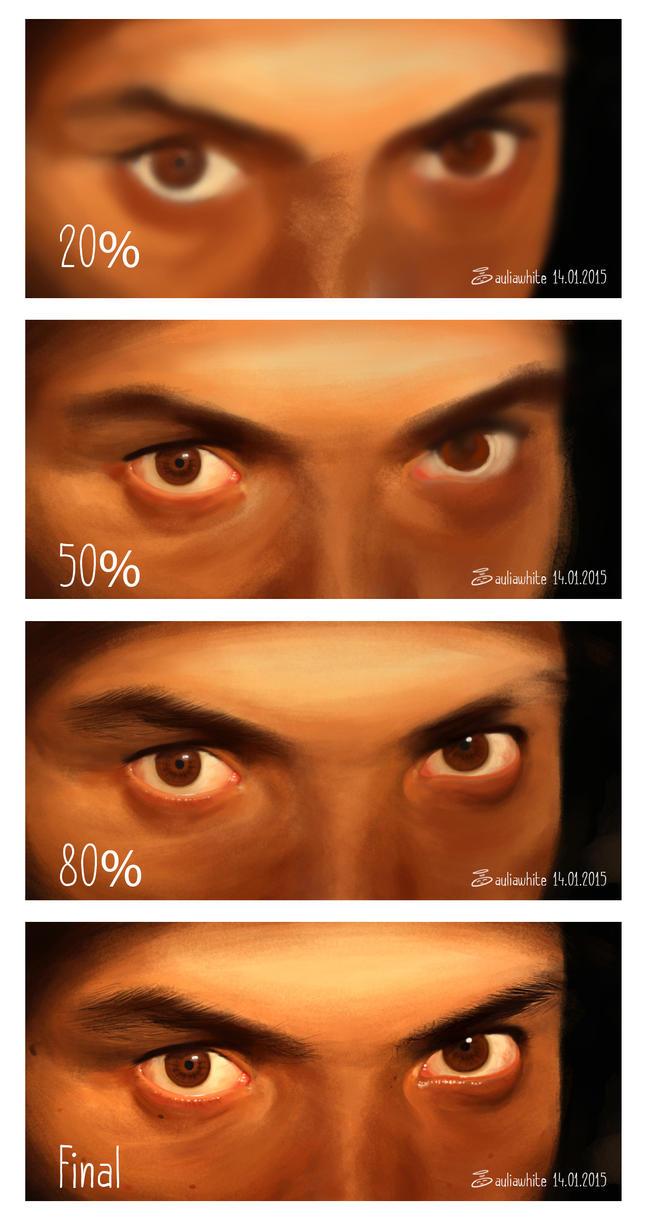 Process Photo Study Eyes by auliaputri