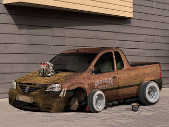 Dacia Logan 'Rat Golan'Front by enth3os