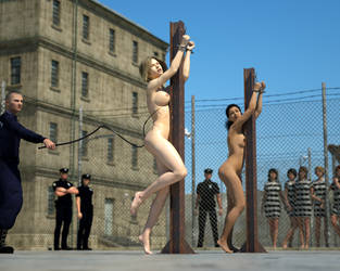 Whipped in the Prison Yard by D3Profundis
