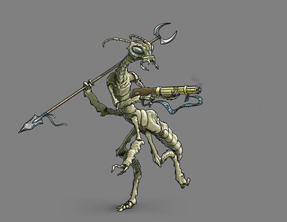 Thri-Kreen Bounty Hunter by MichaelPrescott