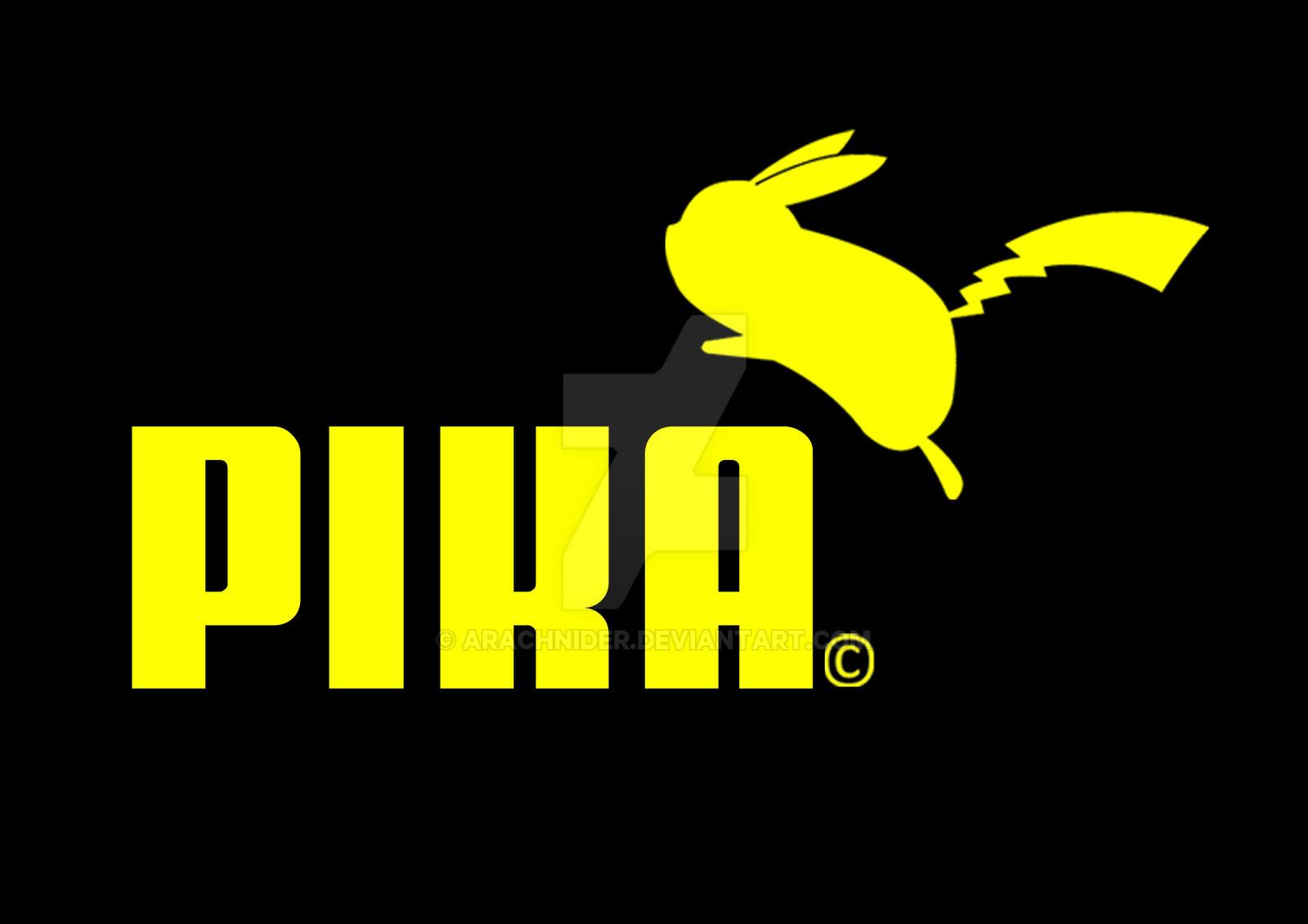 pikachu puma style by arachnider on deviantart puma logo vector ai puma logo vector ai