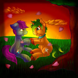 COMMISSION- Love Blossoms by luv4horsez