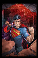 Action Comics Superman by luisdelgado