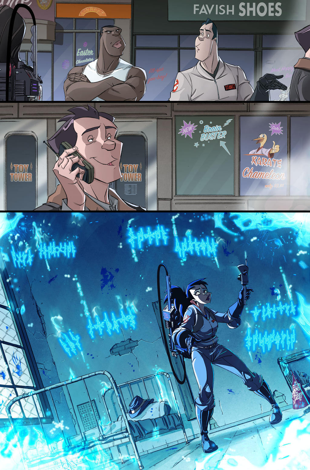 New Ghostbusters #3 page 20 by luisdelgado