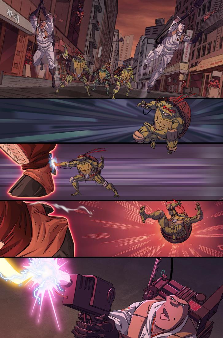 TMNT/GB #3 page 12 by luisdelgado