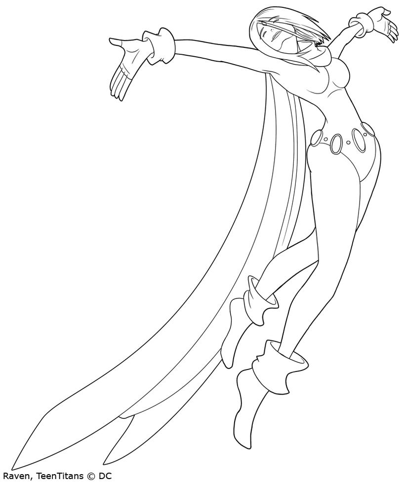 Happy Raven Lineart by DarkVolt on DeviantArt