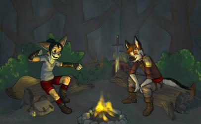 Tellin' Camp Fire Stories with Shade by PrettyOkayMrFox