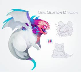 One Off Adopt -  Gem Glutton Dragon [Closed] by Hap-py