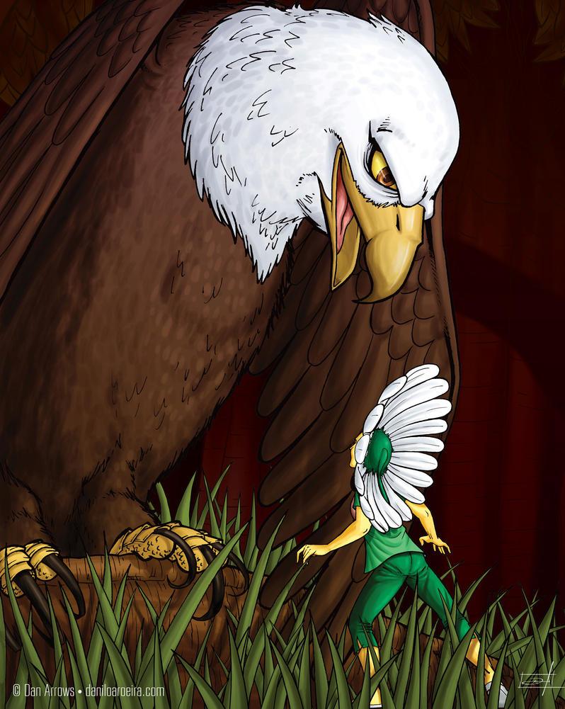 Lorena and eagle by daniloaroeira