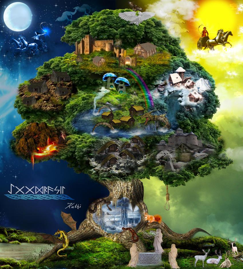 YGGDRASIL - Imagen extraída del deviantart de kathamausi
