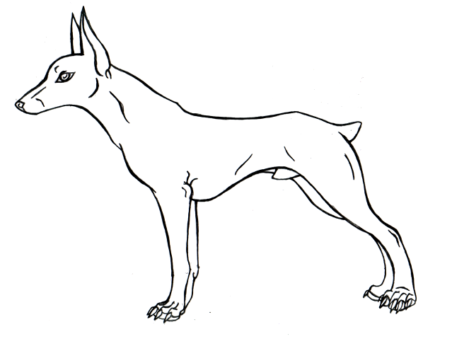 dog lineart. by kruzniik