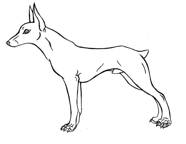 dog lineart. by kruzniik