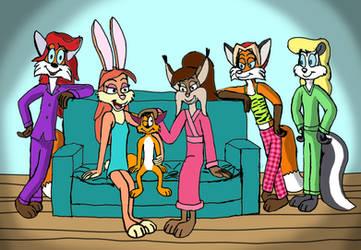 Ivan fox with girls by Grobir