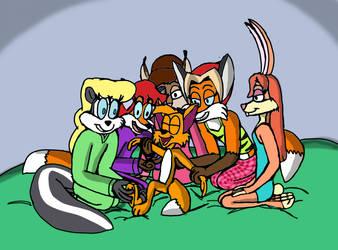 Ivan tickles by girls by Grobir