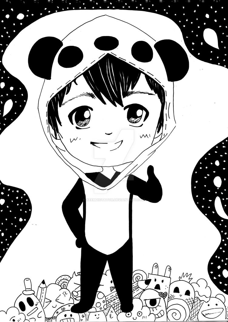 Panda Boy By Keemdictator On Deviantart