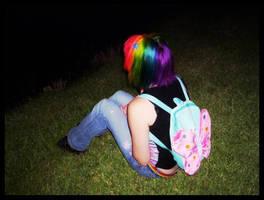 Rainbow Hair by discoinvasion