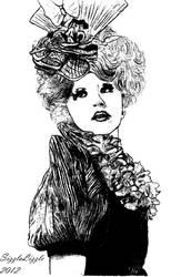 Effie Trinket Sketch #2 by SizzleLizzle