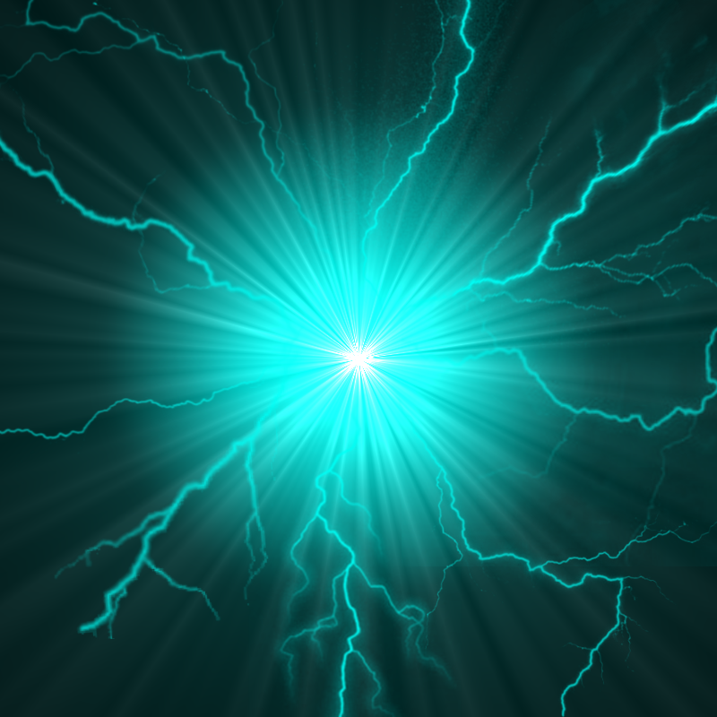 Teal Lightning Ball by SizzleLizzle on DeviantArt