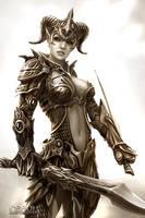 dark woman by svor