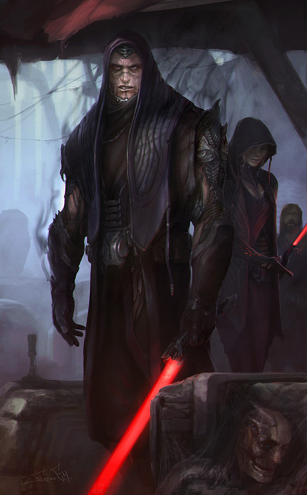SW Darth Bane and Zannah by svor