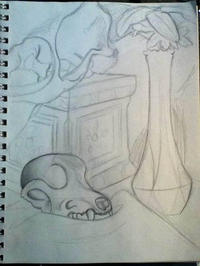 Still Life Sketch WIP by 1Master-Shake