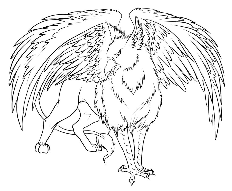 gryphon coloring pages - gryphon tatoo not finished by shishinoseirei on deviantart