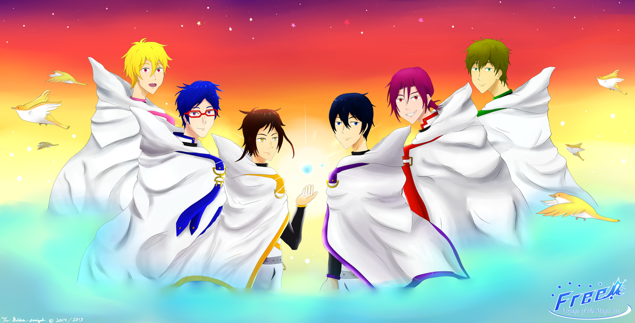 Free! Voyage of the Magic Six - Official Team! by Gold-Ignika