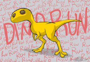 Run, Run, Dino Run by Sketchasaurus