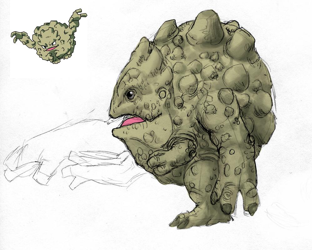 Graveler by Sketchasaurus on DeviantArt