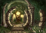 Druid temple ruins