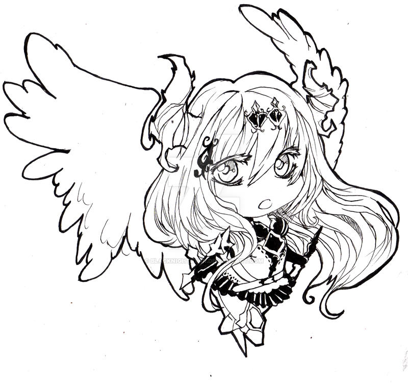 Dark Angel Olivia [Legend of Bahamut] by BlackNightStar